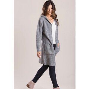 TOPSHOP Grey Cardigan Sweater